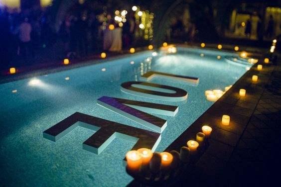 Ιδέες για διακόσμηση της πισίνας στη δεξίωση (μέρος 3ο)