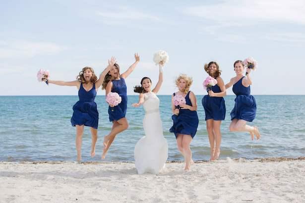 Ροζ και μπλε καλοκαιρινός – ναυτικός γάμος