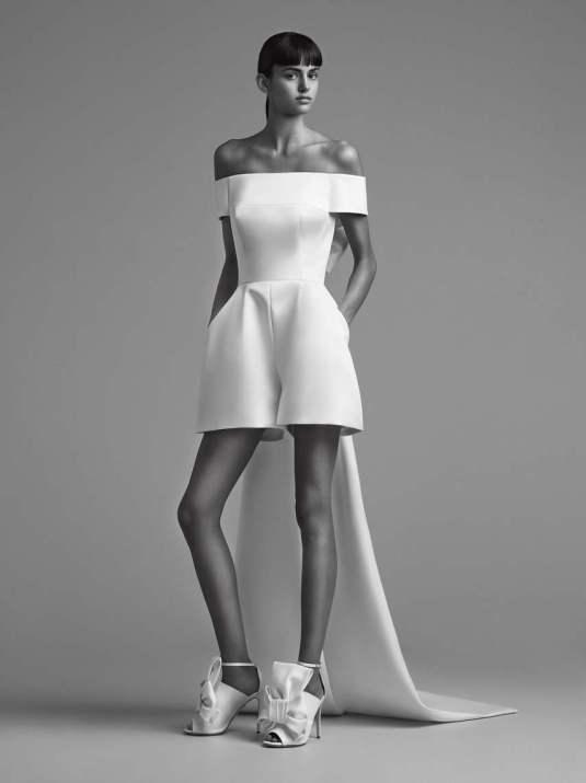 Courtesy of Viktor&Rolf Wedding short jumpsuit by Viktor & Rolf Mariage