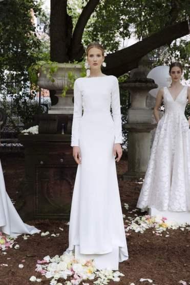 Courtesy of Lela Rose Wedding dress by Lela Rose