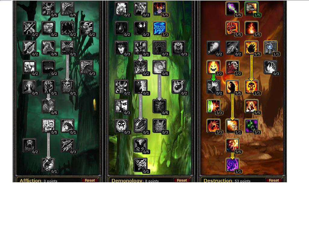 Warlock Talent Builds About World Of Warcraft