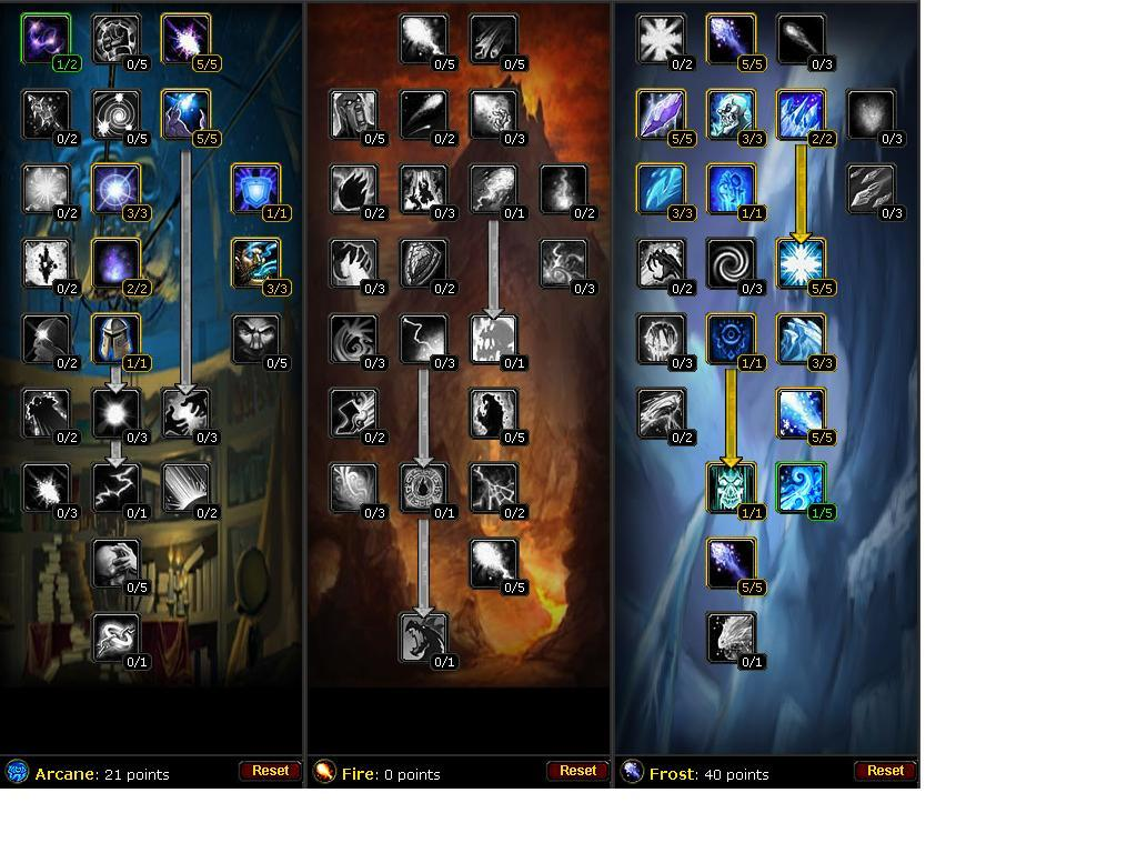 Mage Talent Builds About World Of Warcraft