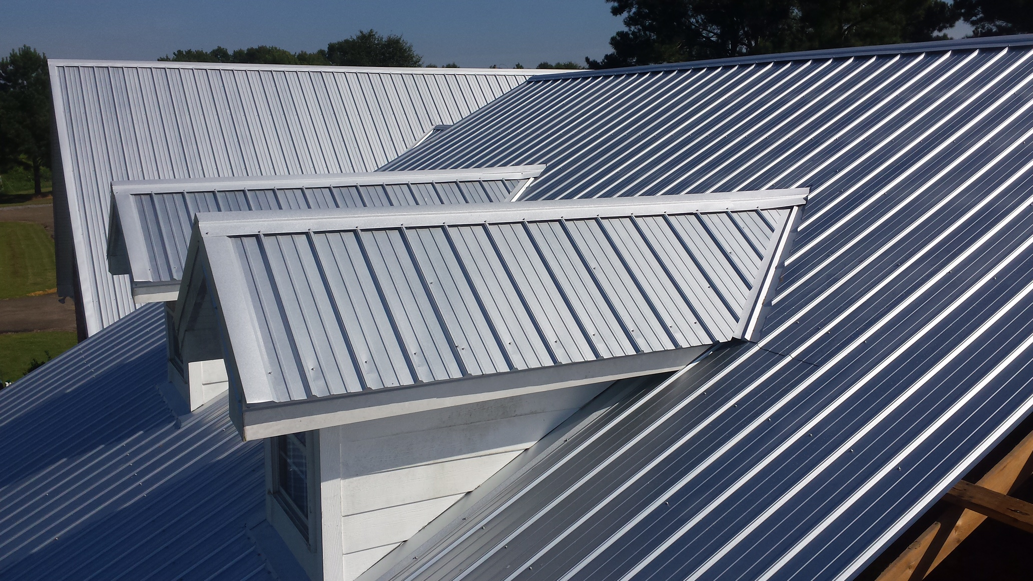 Residential Metal Roof Silver Side Above All Projects