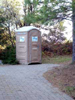 Porta potty in the driveway