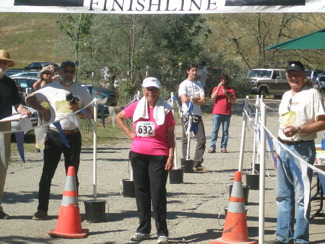 Phyllis at finish line