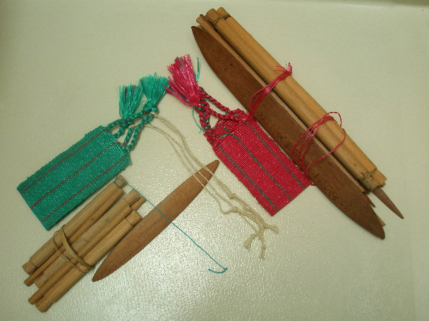 Two Guatemalan backstrap looms