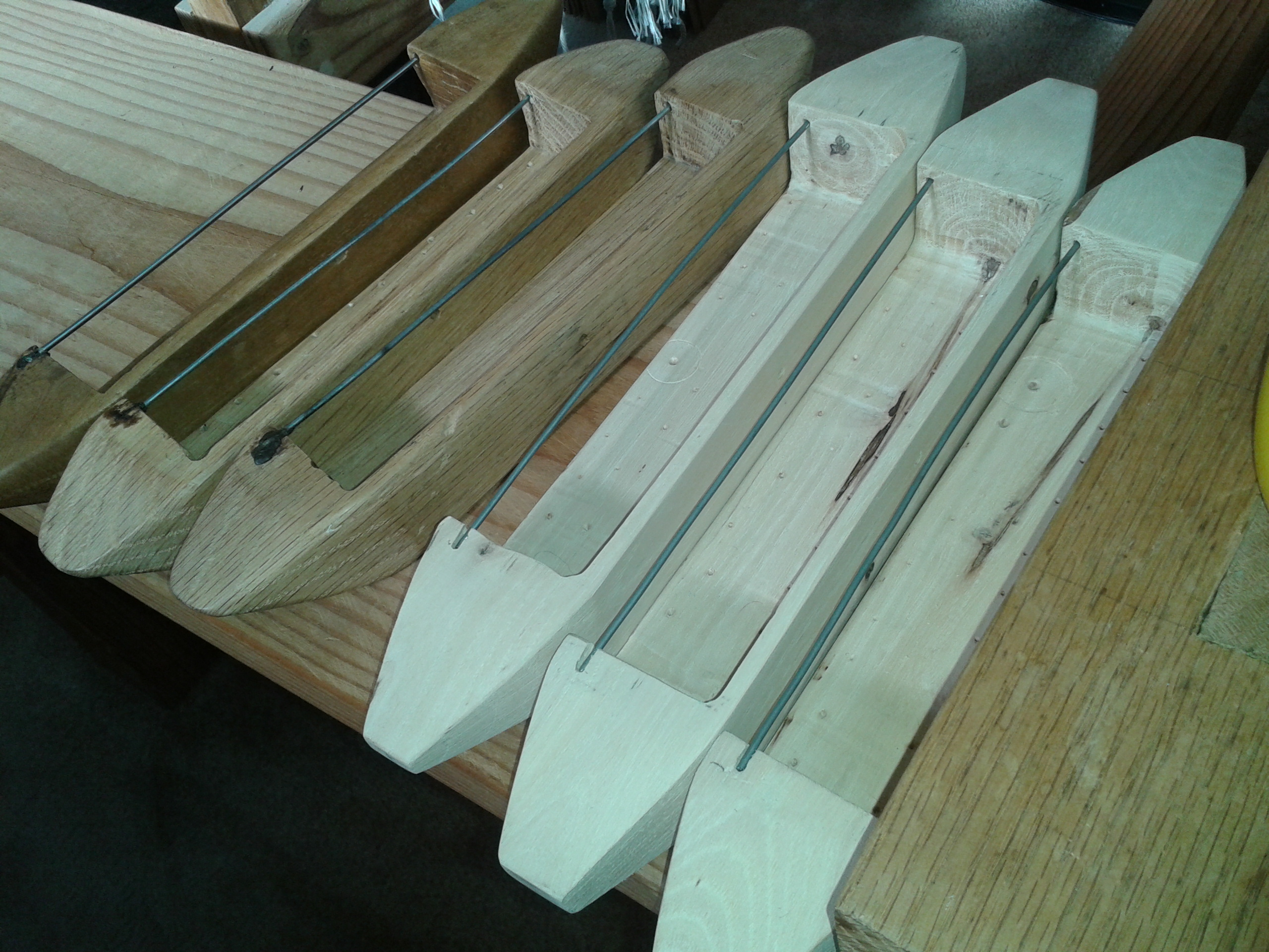 Handmade shuttles being made by Zenon Hipolito, Jaime's father
