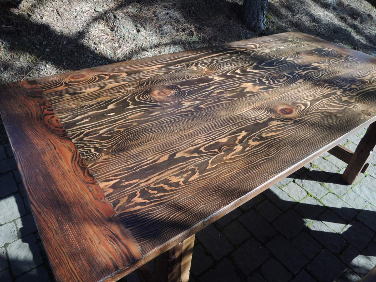 dining table made from recycled wood