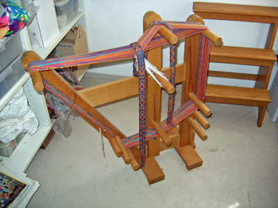Inkle loom and step stool