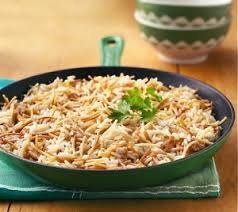finished dish of rice and pasta