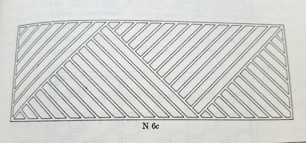 A drawing of lattice work.