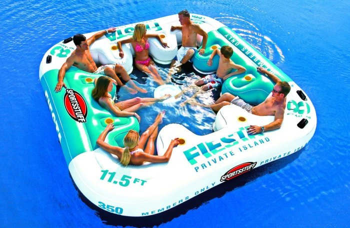 Relaxation Station Pool Lounge: Best Floating Island Raft For The Lake