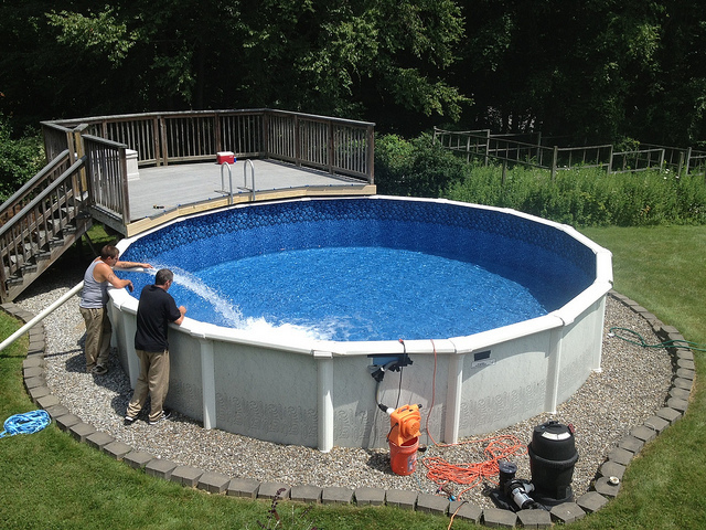 the 411 on above ground pool installation - Intex Above Ground Pool Decks
