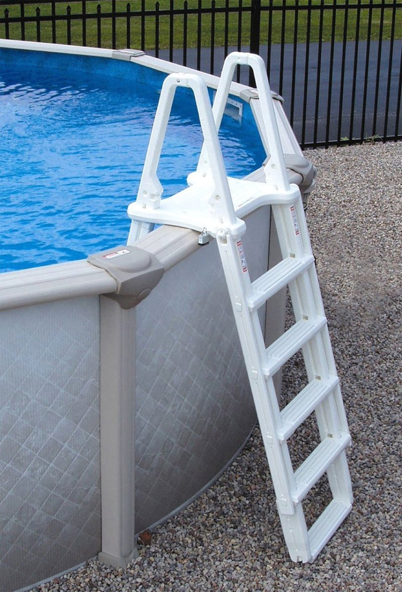 Above Ground Pool Outside Steps how to drain an above ground pool | best above ground pools