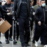 Anthony Joshua Hobbles On Crutches As He Joins Black Lives Matter Protest In Watford