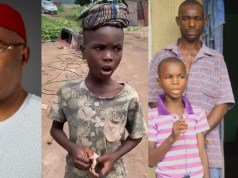 Imo Governor, Hope Uzodimma Adopts 9-Year-Old Boy With Melodious Voice As His Own Child (Video)