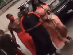 Native Doctor And Girlfriend Spotted Shopping In Benin (Video)
