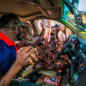 Popular DJ Kaywise Suprises His Mum With A Car On Her Birthday (Photos)
