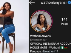 "BBNaija2020: Wathoni Joins The ""Blue Tick Geng"", Becomes 3rd Female Housemate To Be Verified On Instagram"