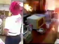 Gas Explodes At Big Brother's Kitchen In Cameroon (Video)