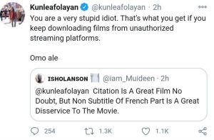 See How Kunle Afolayan Reacted After A Follower Asked Why His Latest Movie 'Doesn't Have Subtitle'