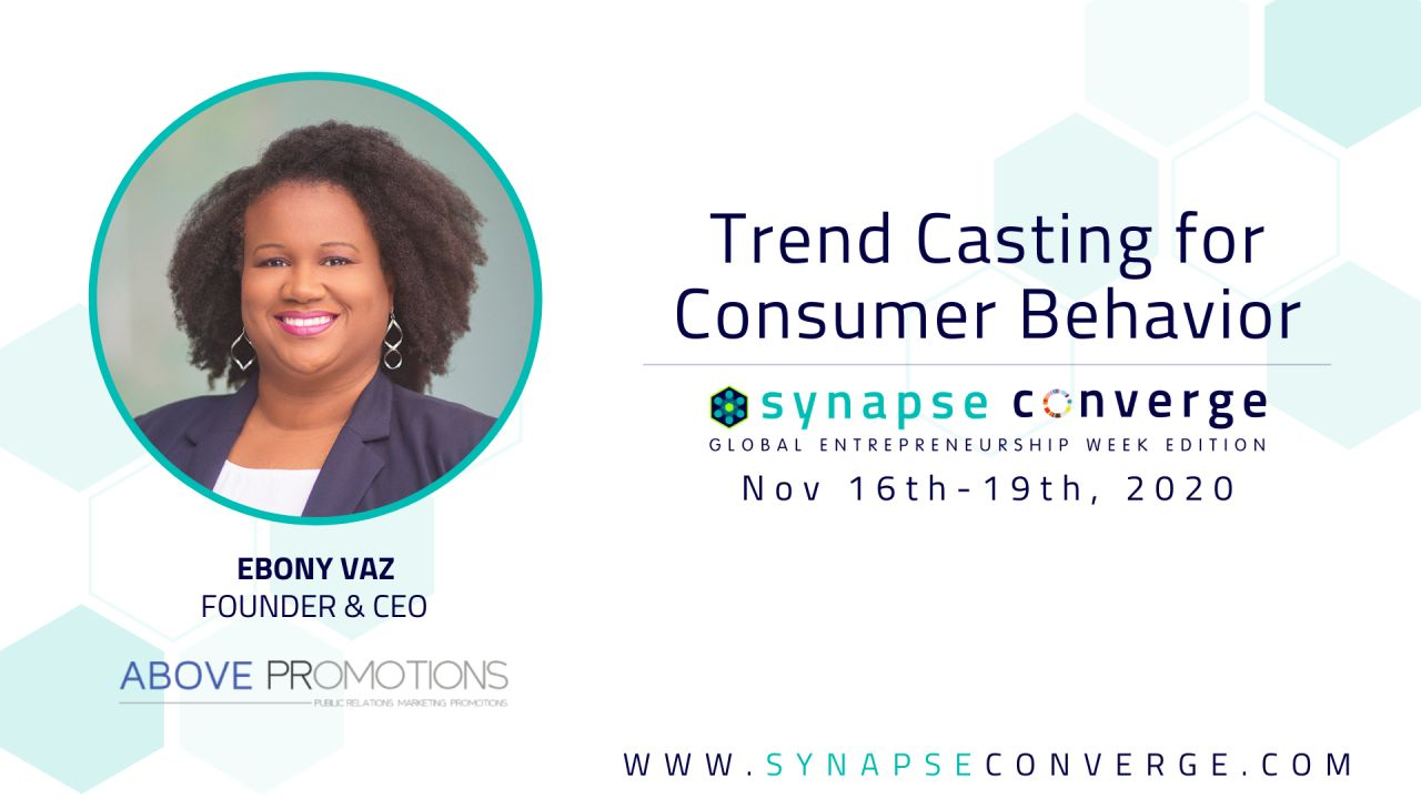 Ebony Vaz Speaker for Synapse FL Converge GEW 2020 event