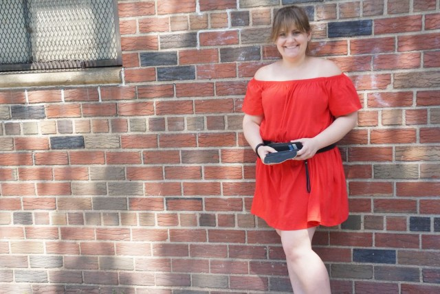 Dress smiling at camera