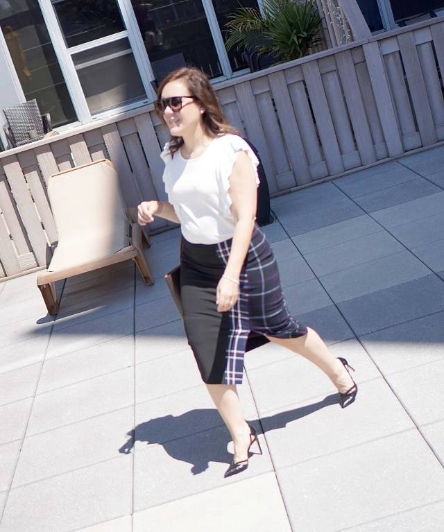 Walking in Nordstrom Skirt