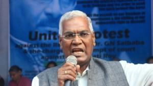 A Raja, a member of parliament for the Communist Party of India [Sanjay Kumar/Al Jazeera]