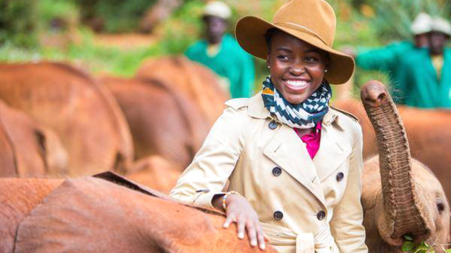 Oscar-winning Kenyan actress Lupita Nyong'o who is also Wild Aid's Global Elephant Ambassador. The country's tourism, recently hit by terrorism, has seen a healthy growth in local visitors. (Photo/MagicalKenya).