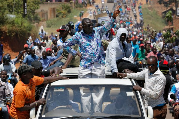 The leading opposition figure is a former army doctor, Kizza Besigye, who is now making his fourth bid for president. Credit Dai Kurokawa/European Pressphoto Agency