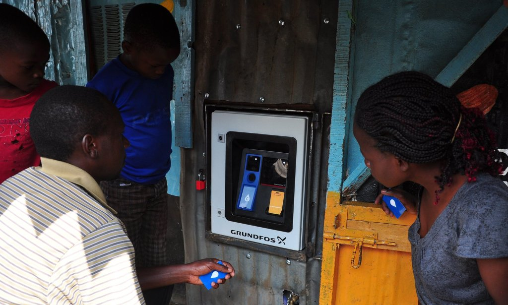 The water reaches the ATM through 18km of newly laid water pipes, connected from the city's main supply lines. Photograph: Grundfos