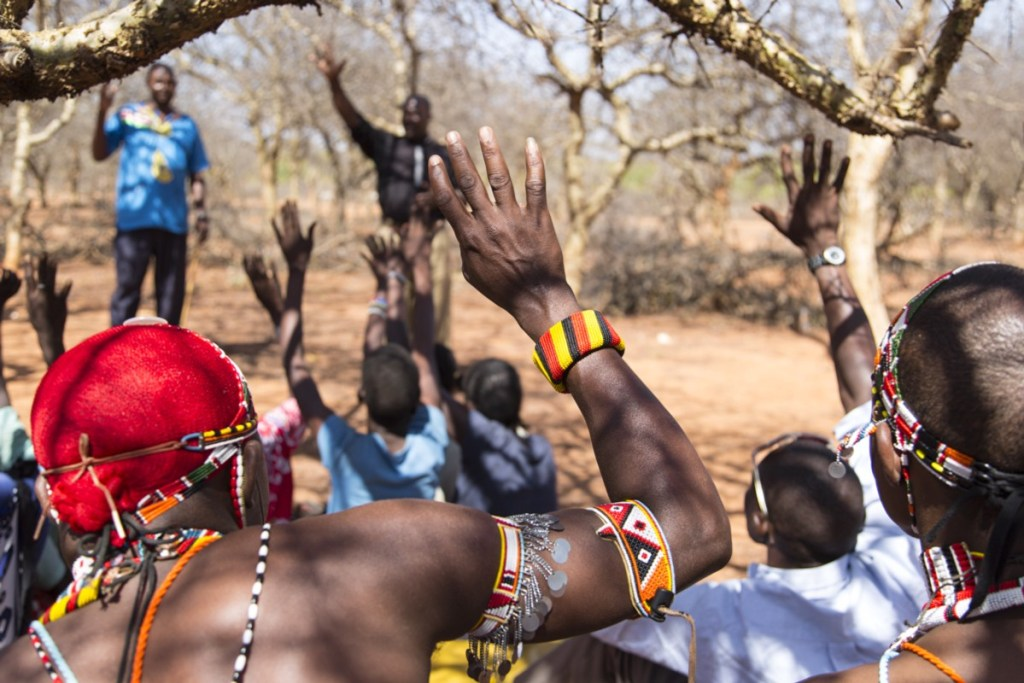 Community discussions, and public agreement, are key tools in the abandonment of FGM. Picture: Jessica Lea/DFID