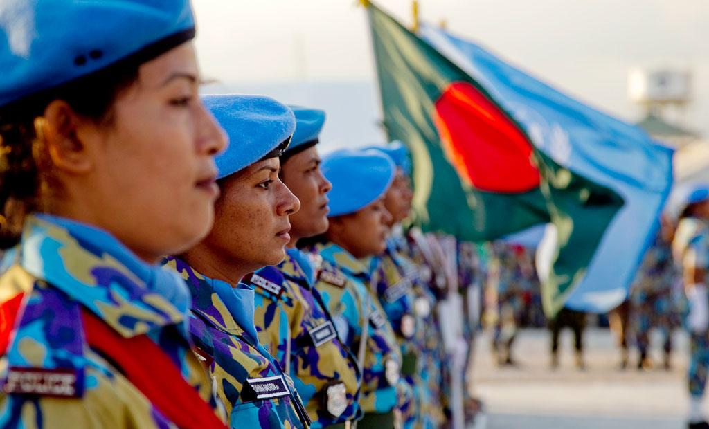 Female police officers of the UN Stabilization Mission in Haiti (MINUSTAH). UN Photo/Logan Abassi