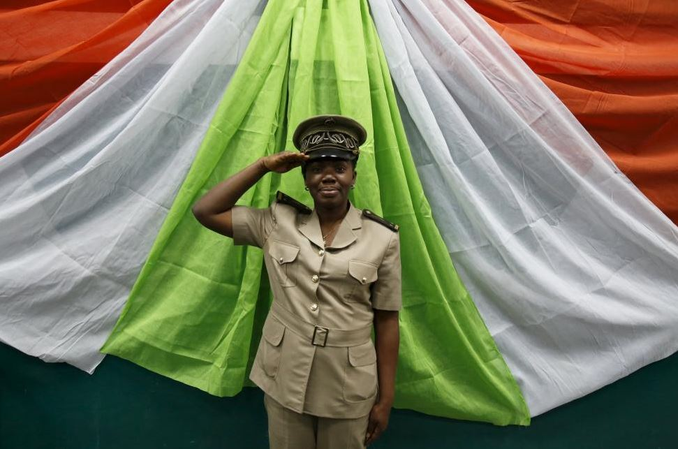 Michelle Loboue, a sub-prefect of Bouake region, poses for a photograph in Bouake, Ivory Coast February 6, 20116. REUTERS/Thierry Gouegnon