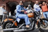 Badass woman lawmaker drives into the Indian Parliament on a Harley-Davidson
