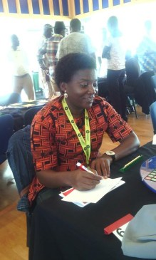 Ms. Tuoyo Mayuku at the African Scrabble Tournament in South-Africa