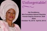 In Loving Memory Of Funmilayo Adunni Olayinka