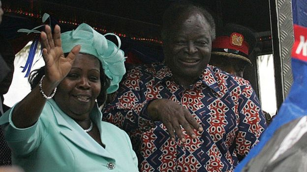 Mwai Kibaki and his wife were in State House for about a decade