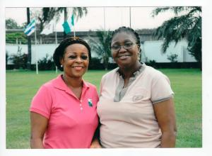 Mrs. Bosede Ransome Kuti with Her Excellency, Dame Abimbola Fashola