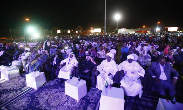 Fans enjoy The Nightingales at a concert in Khartoum in April Photograph: Ashraf Shazly/AFP/Getty Images