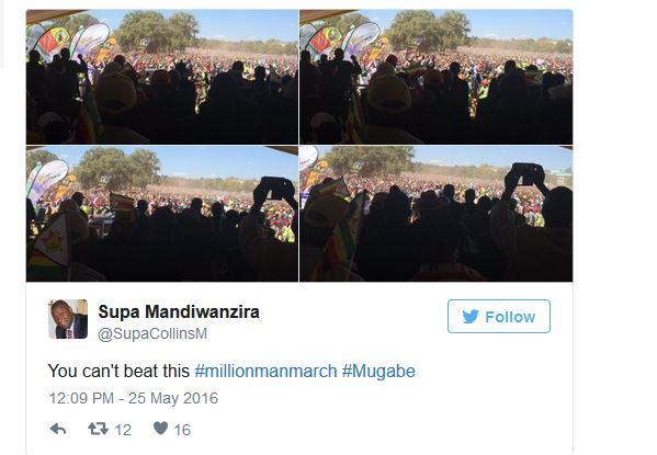 Mugabe march