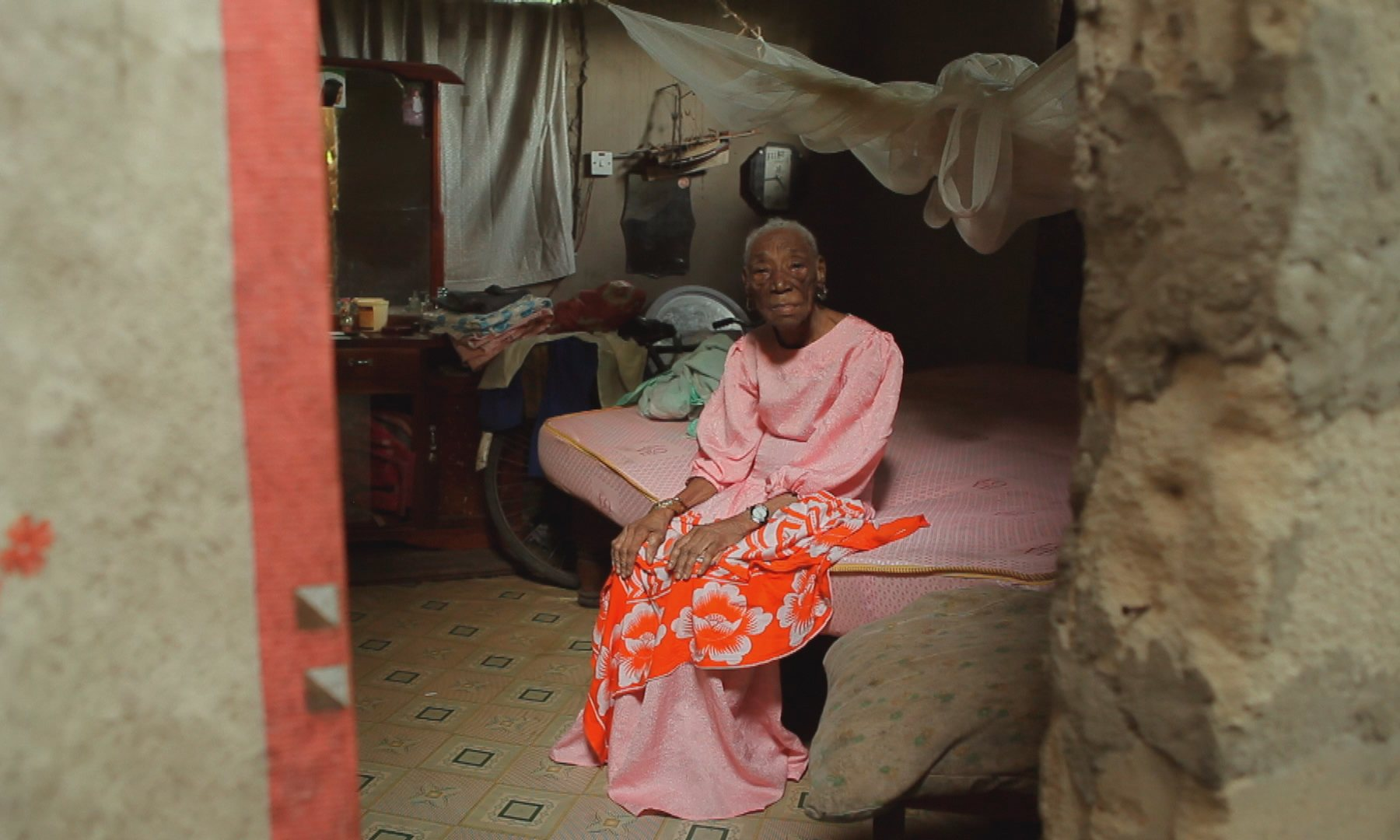 Kidude when she was found in Baraka's village home, where she had been held hostage. Photograph: Andy Jones