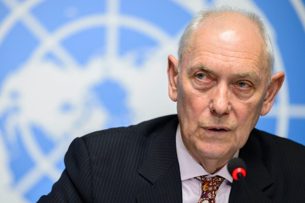 Mike Smith, chair of the U.N. inquiry, says Eritrea's regime has enslaved between 300,000 and 400,000 people over the past 25 years through indefinite, forced conscription.