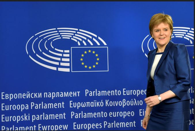 The first minister of Scotland, Nicola Sturgeon, will meet with the European Commission's president, Jean-Claude Juncker, in Brussels on Wednesday. Credit Eric Vidal/Reuters