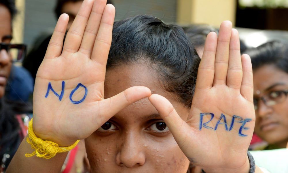 Students take part in a protest against rape in Hyderabad, southern India. Such protests are largely confined to urban areas. Photograph: Noah Seelam/AFP/Getty Images