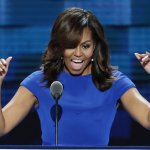 Michelle Obama said of her and Barack's advice to her daughters: 'When someone is cruel or acts like a bully, you don't stoop to their level.' Photograph: J Scott Applewhite/AP