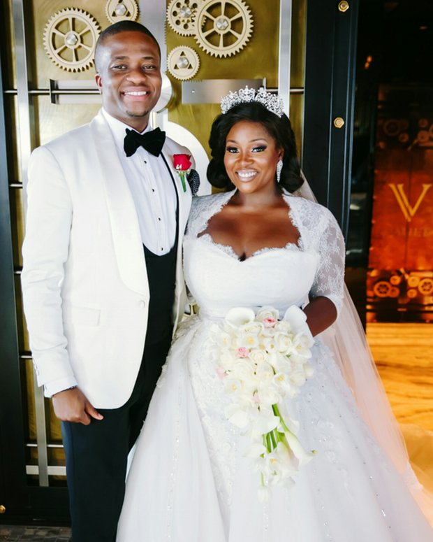 Toolz and Tunde on their wedding day. Photograph: Toolz Oniru-Demuren