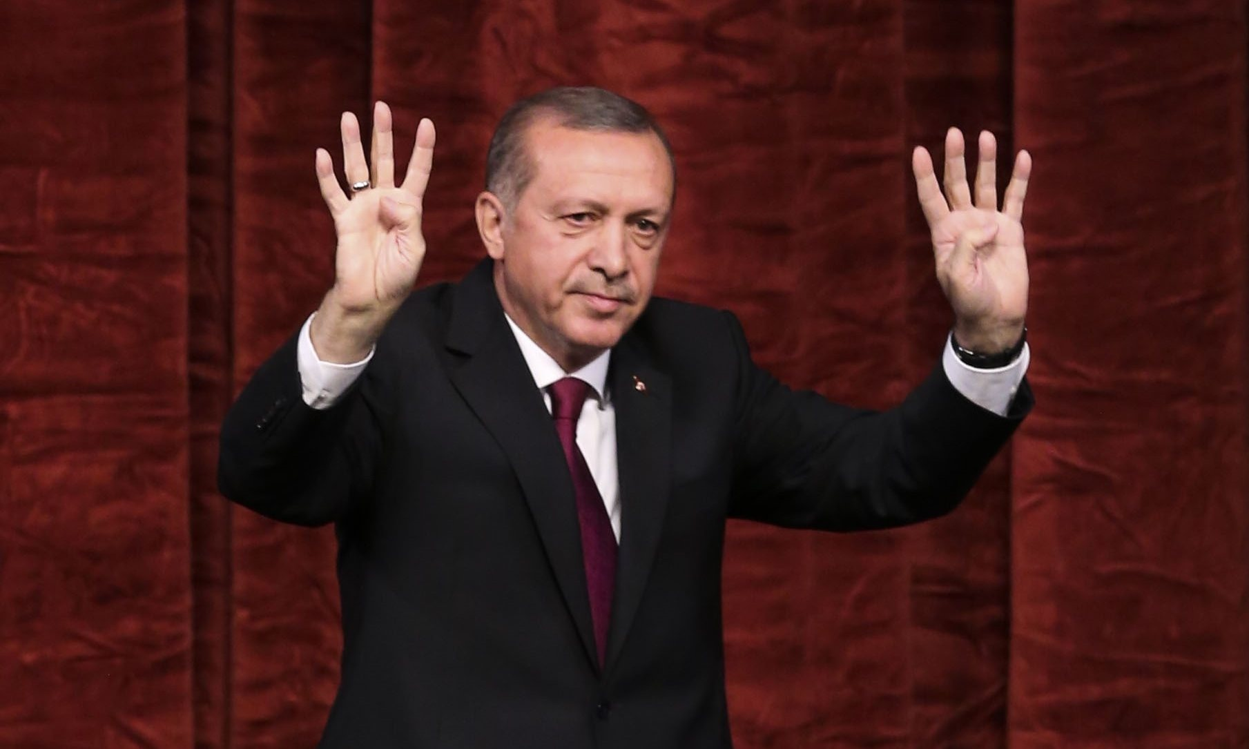 Turkish president Recep Tayyip Erdogan he will shut the country's military academies. Photograph: Anadolu Agency/Getty Images