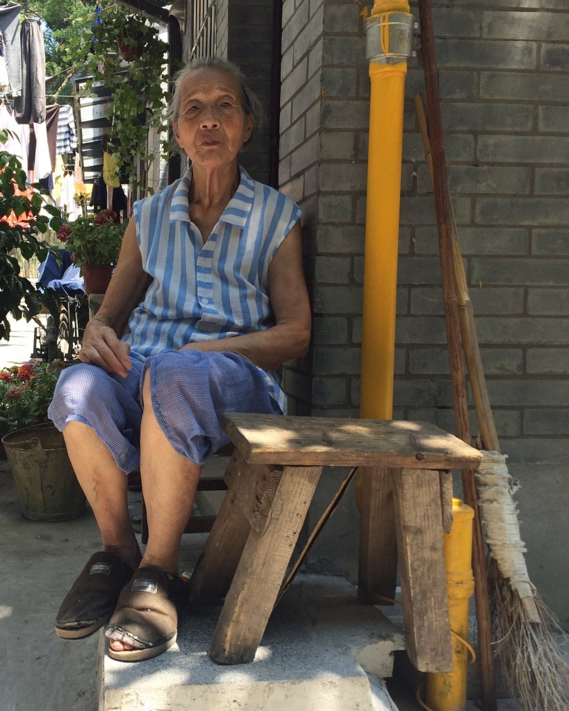 Chen Meixian, an 84-year-old grandmother, says that thanks to the G20 in Hangzhou she now has a bathroom at home for the first time Photograph: tom phillips for the Guardian